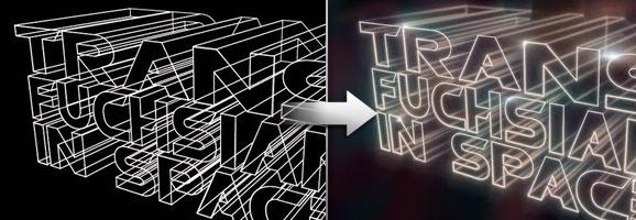 3D Light Streak text Effect