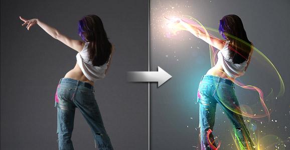 Show me the light digital art tutorial