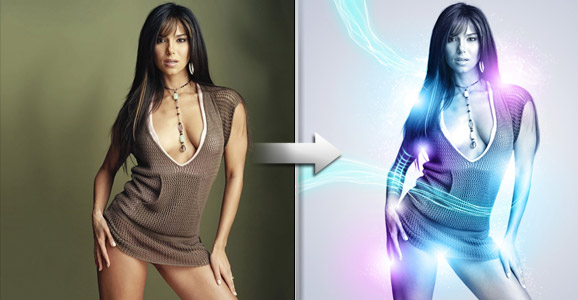 Create A Gorgeous Light Effect Using Photoshop