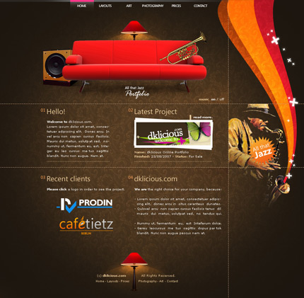 web design ideas inspiration brown web design inspiration designshard - Web Design Ideas